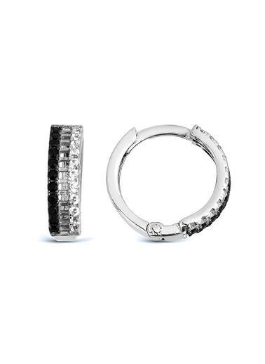 Argentum Concept Argentum Concept Taşlı Halka Küpe Gümüş
